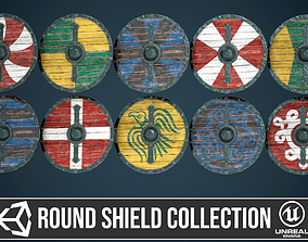 Round shield collection 3D model