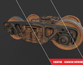 game ready cargo train PBR 3D model