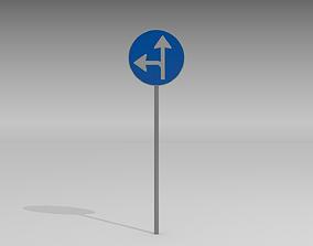 Turn left or straight 3D model