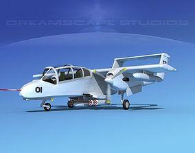 3D Rockwell OV-10 Bronco USAF 2