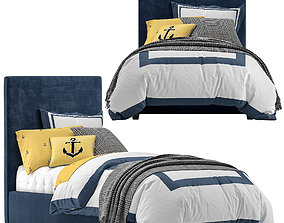 3D model Raleigh Upholstered Square Bed - Headboard
