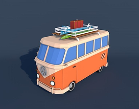 3D model Low Poly Van