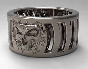 fractured skull ring 3D print model