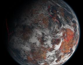3D Volcanic Planet 03