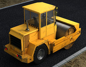 3D Construction municipal vehicles road rollers