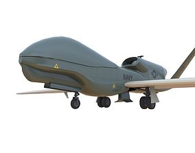 3D model realtime RQ-4B Drone