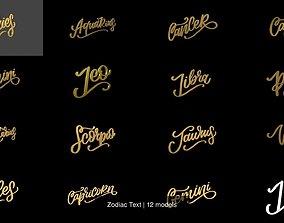 Zodiac Text 3D model