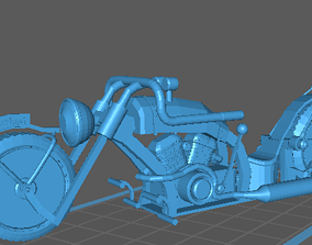 Motorcycle Custom 1 to 24 scale 3D printable model