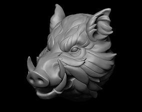 3D print model Stylized Wild Boar Head