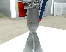 3D model Rutherford Rocket Engine Updated Materials