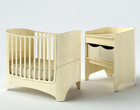 diaper Leander Baby cot and Changing table 3D