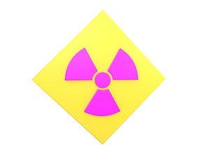 Radiation Symbol v3 003 3D asset