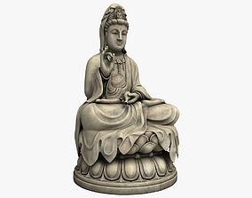 3D Kwan Yin Bodhisattva Statue