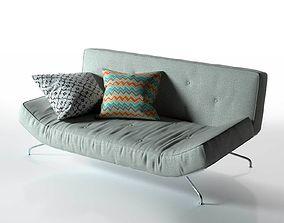 Sleeper Sofa bend 3D