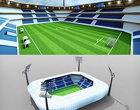 3D asset Football Soccer stadium