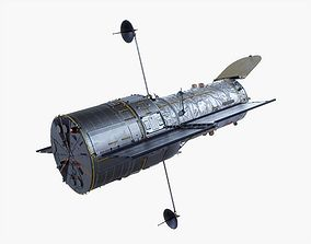 Hubble Space Telescope Animated 3D asset
