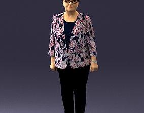 Old woman 0050 3D Print Ready senior