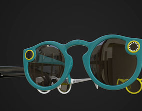 Snapchat Spectacles 3d model animated