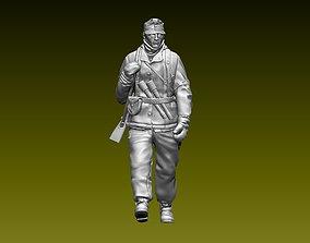 German soldier 3D print model ww2