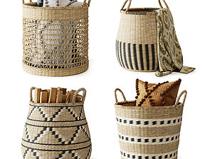 Baskets Set 02 3D