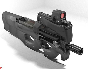 3D model Submachine Gun - FN P90
