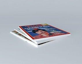 3D model journals magazines