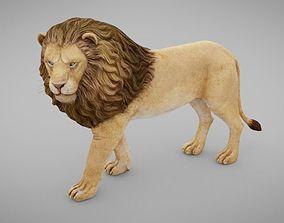 3D asset Stylized Lion
