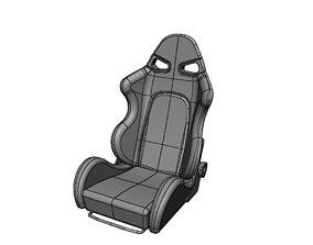 Bride style sparco race car seat 3D
