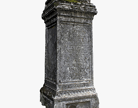 Tombstone 3D asset low-poly