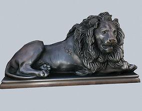 3D model Lion Statue Monument