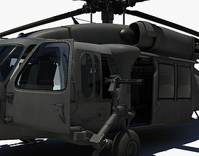3D model military Blackhawk