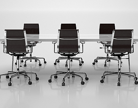 Conference Meeting Room Furniture 07 3D