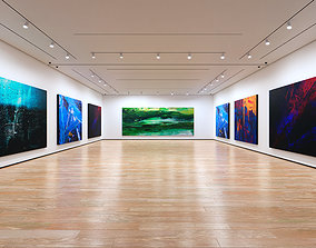 3D model Art Museum Gallery Interior 1c