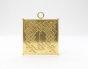 3D printable model Celtic pendant letter I
