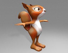 cartoon squirrel mammal 3D model