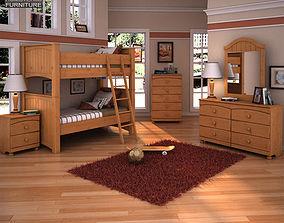 Ashley Stages Bunk Bedroom Set 3D model