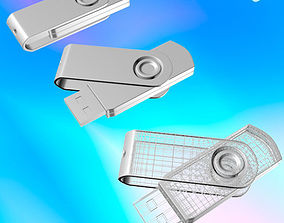 USB Flash Drive 03 3D model