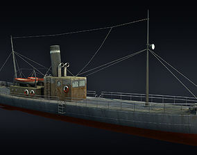 3D model realtime low-poly Cargo ship