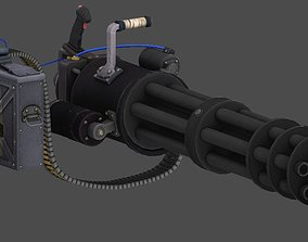 Minigun 3D model animated VR / AR ready