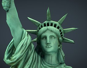 LOW POLY STATUE OF LIBERTY 3D model
