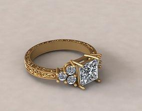3D print model stone Ring 42