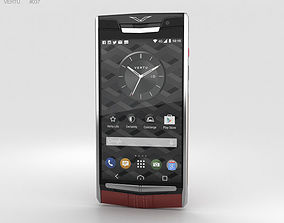 leather 3D model Vertu Signature Touch 2015 Garnet Calf