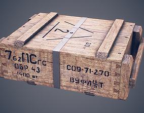 Soviet ammunition crate 3D asset
