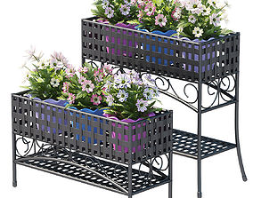 3D model plant set in stand 120