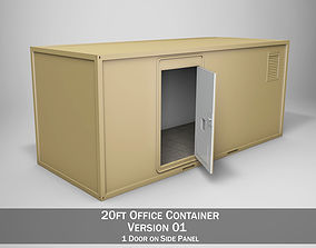 20ft Office Container Version1 3D