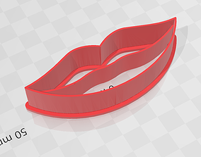 Lips - labios - cookie cutter 3D print model