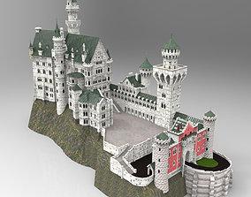 Neuschwanstein Castle in obj and fbx formats 3D