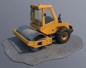 Road Roller 3D asset