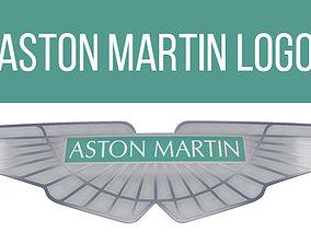 3D model Aston Martin Badge logo emblem