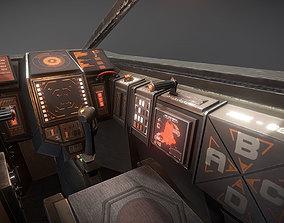 3D model LAC - Light Assault Craft - Cockpit